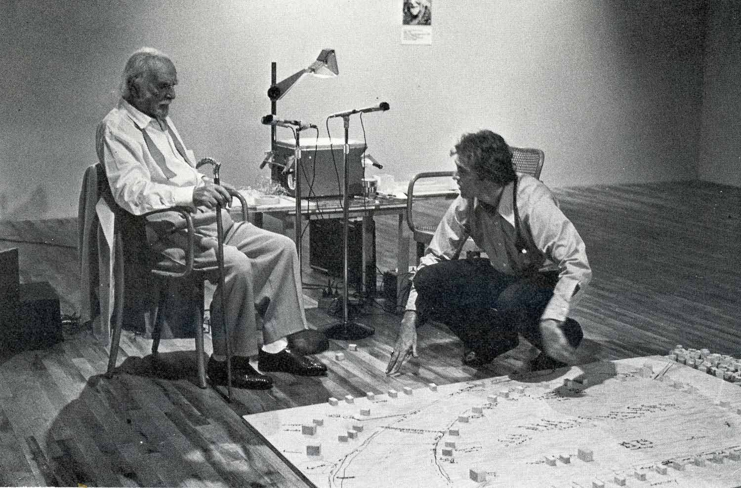 Roger Welsh interviews Harry Leiberman for his series, Memory Map, at John Gibson Gallery, 1973