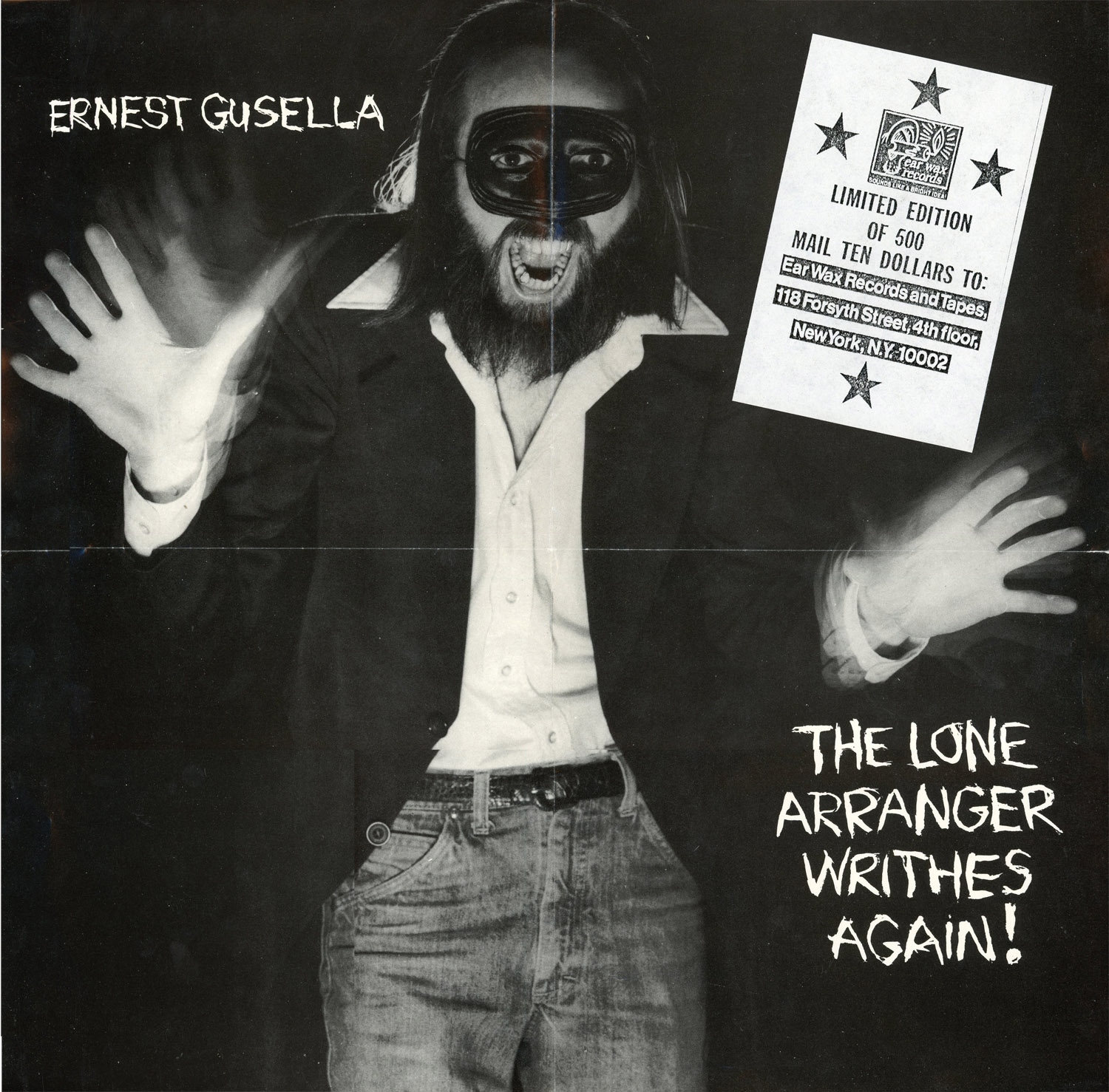 Ernest Gusella, The Lone Arranger Writhes Again!, Poster.