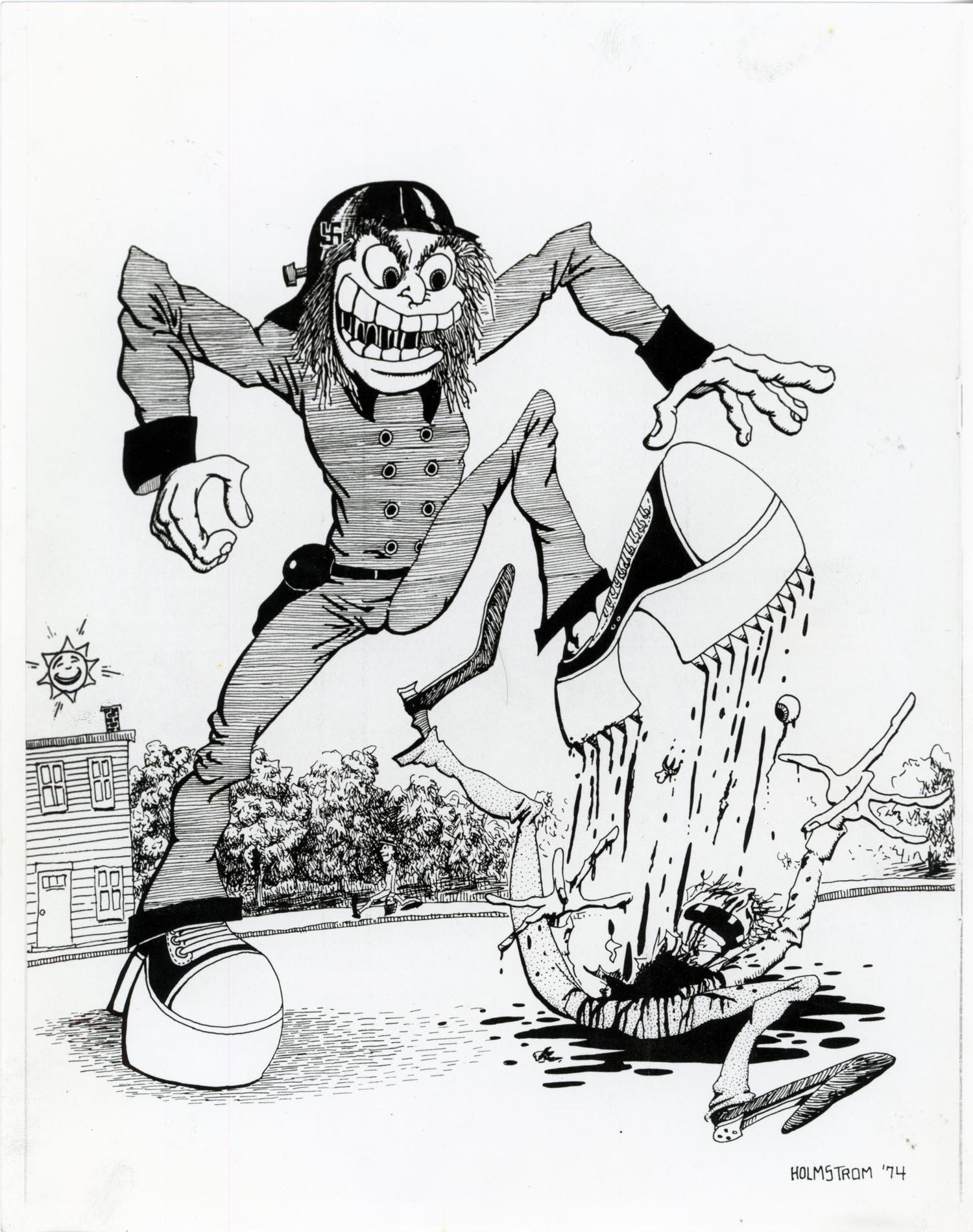 John Holstrom, Cartoon from  Punk Magazine  #7, 1977