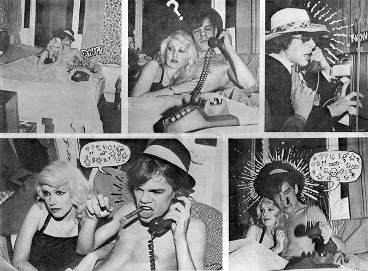 David Jo Hansen & Cyrinda Fox in The Legend of Nick Detroit, Punk Magazine, Issue 6, October 1976  The Legend of Nick Detroit Written & Directed by Legs McNeil Editing & Special Effects: John Holmstrom Assistant Director and Director of Photography: Roberta Bayley