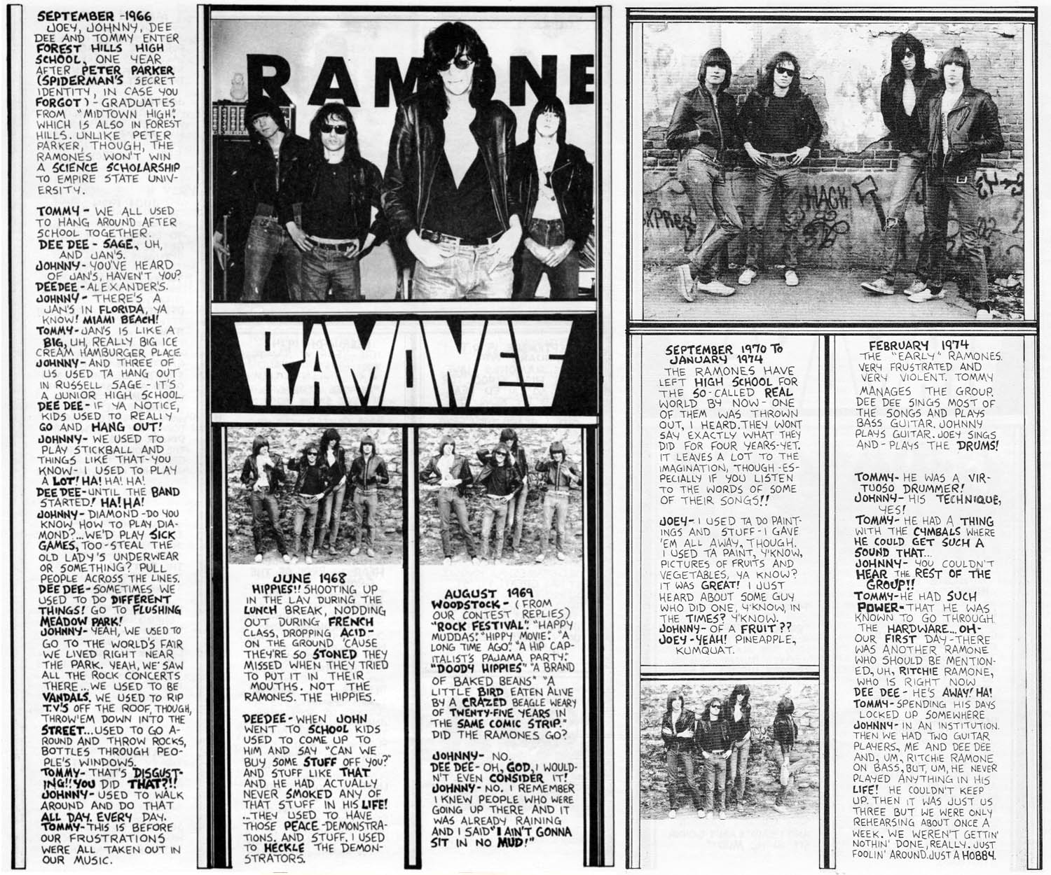 Roberta Bayley (photographer), Article on the Ramones, Punk Magazine, Issue 3, April 1976