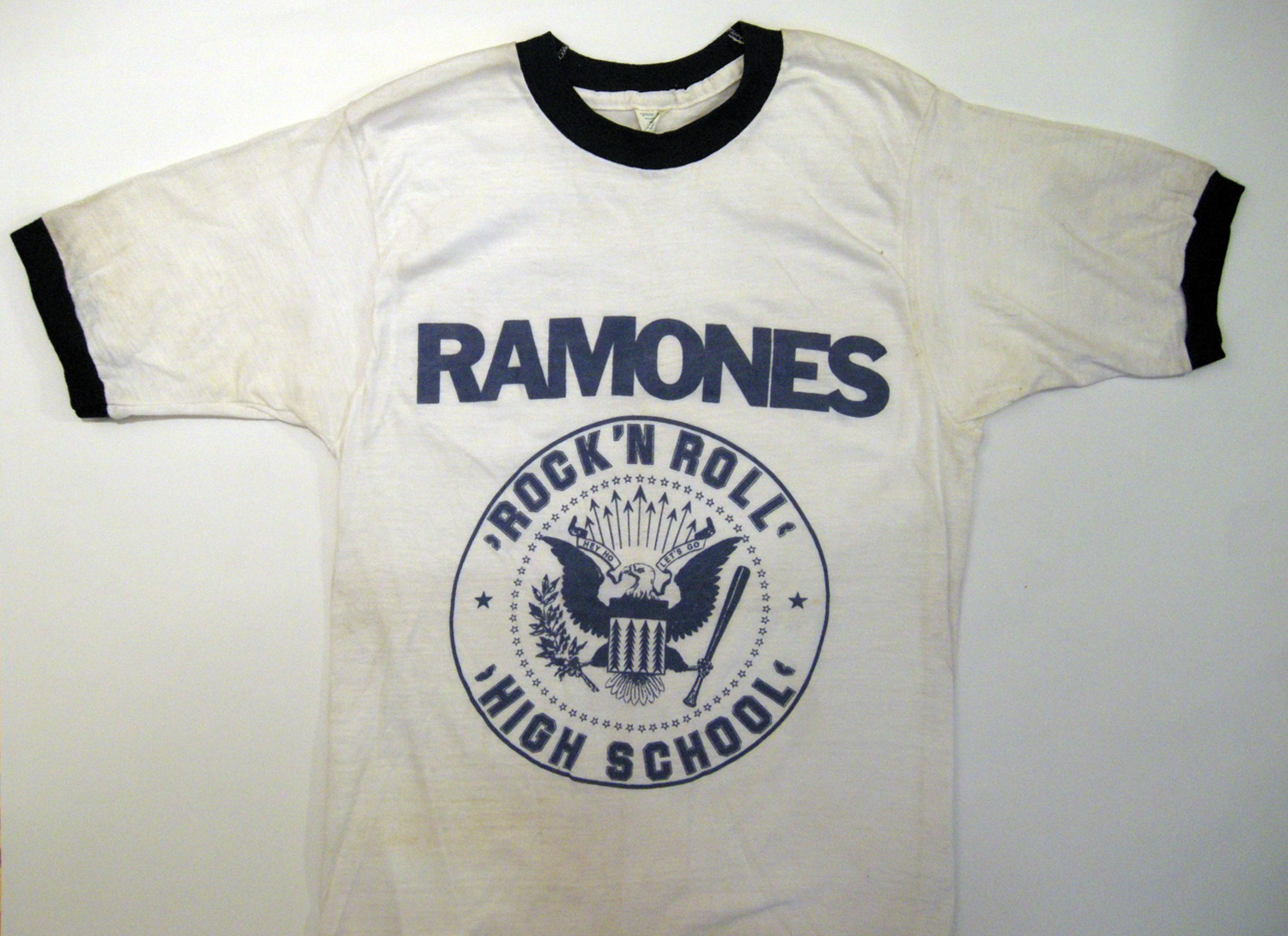 Arturo Vega, Rock 'N Roll High School, silkscreen T-Shirt, 1978 A variation of the Ramones Logo used in conjunction with the film Rock 'N Roll High School.
