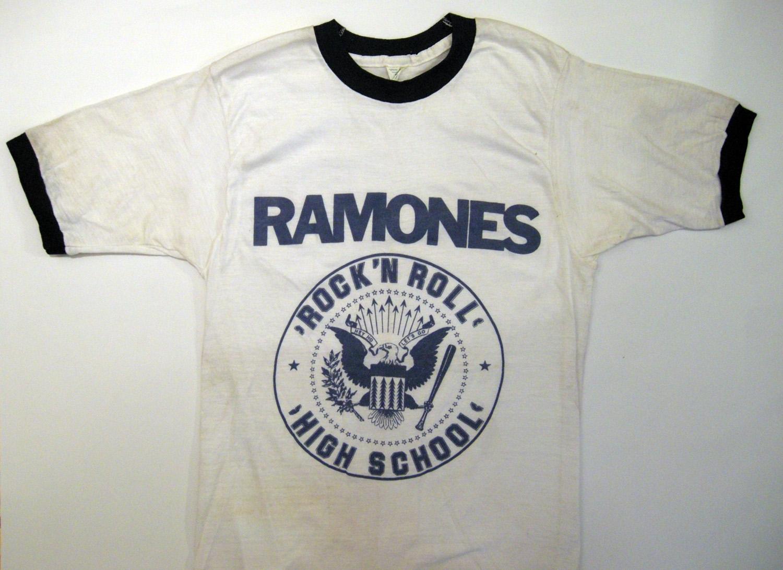 Arturo Vega, Rock 'N Roll High School, silkscreen T-Shirt, 1978 A variation of the Ramones Logo used in conjunction with the film Rock 'N Roll High School.