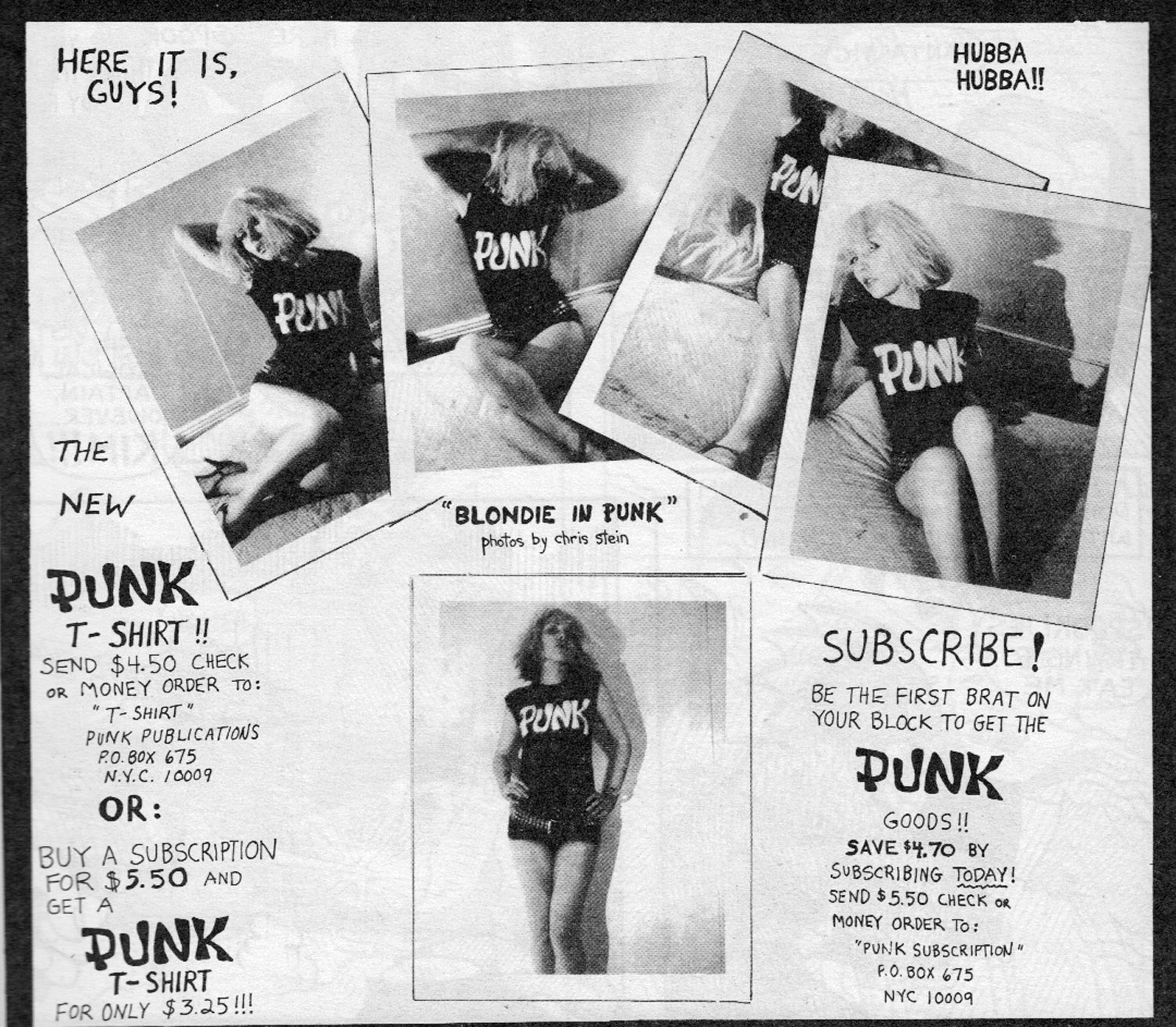 "Chris Stein (photographer), ""Blondie in Punk,"" Punk Magazine, Issue 3, April 1976"