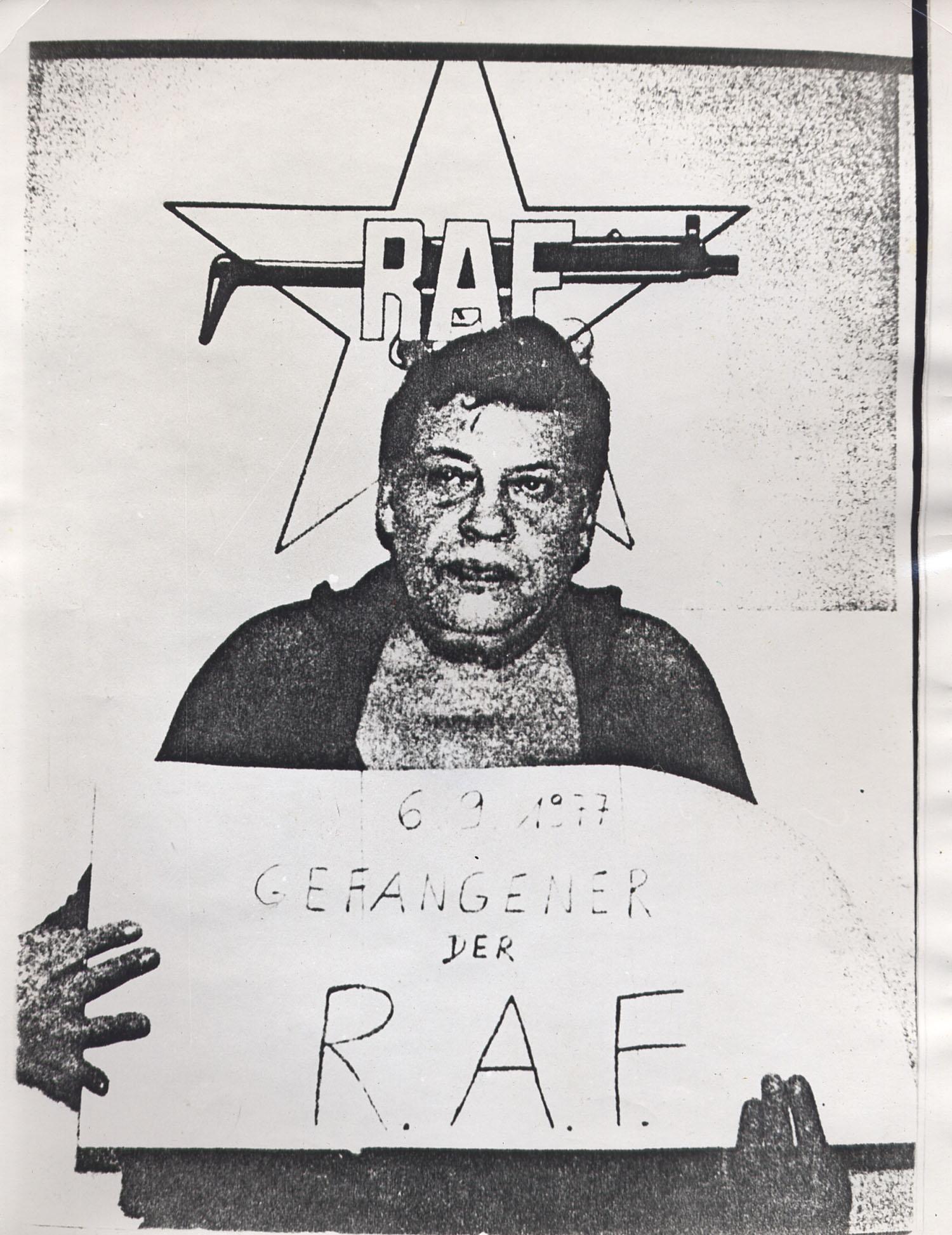 Alan Moore, Hanns Martin Schleyer, Xerox of news photograph, 1978