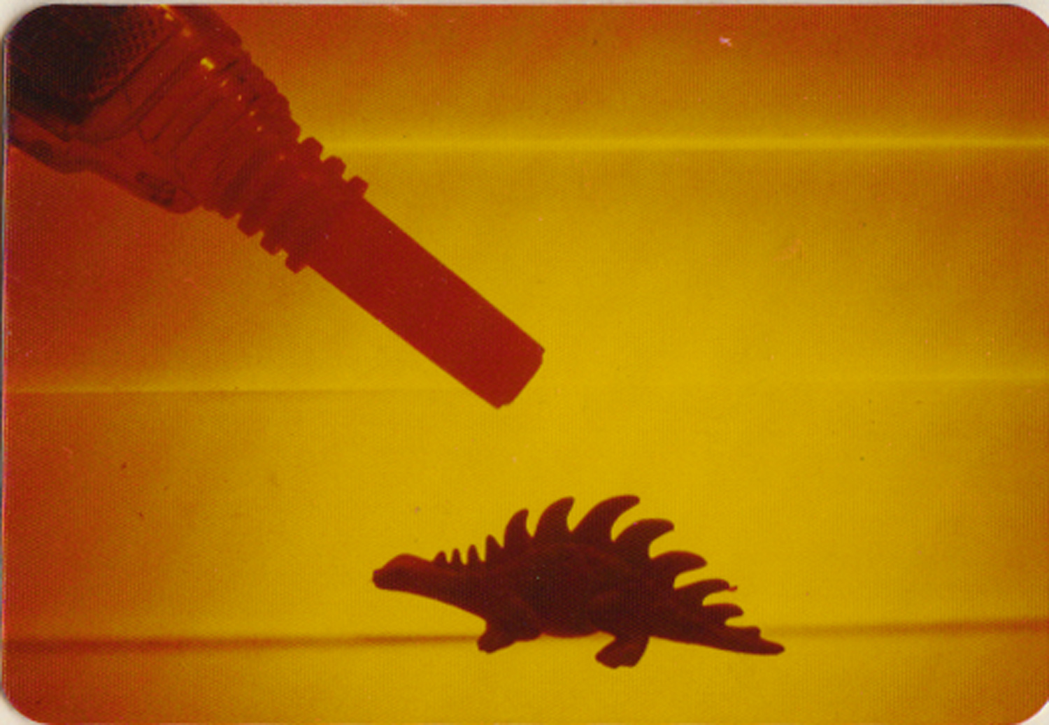 Pat Place, Still Life with Ray Gun & Dinosaur, photograph, 1978