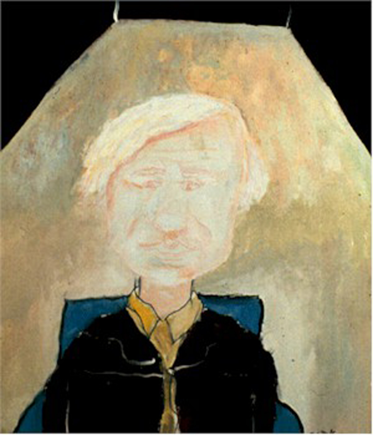 Neke Carson, Portrait of Andy Warhol, acrylic on canvas, 1972