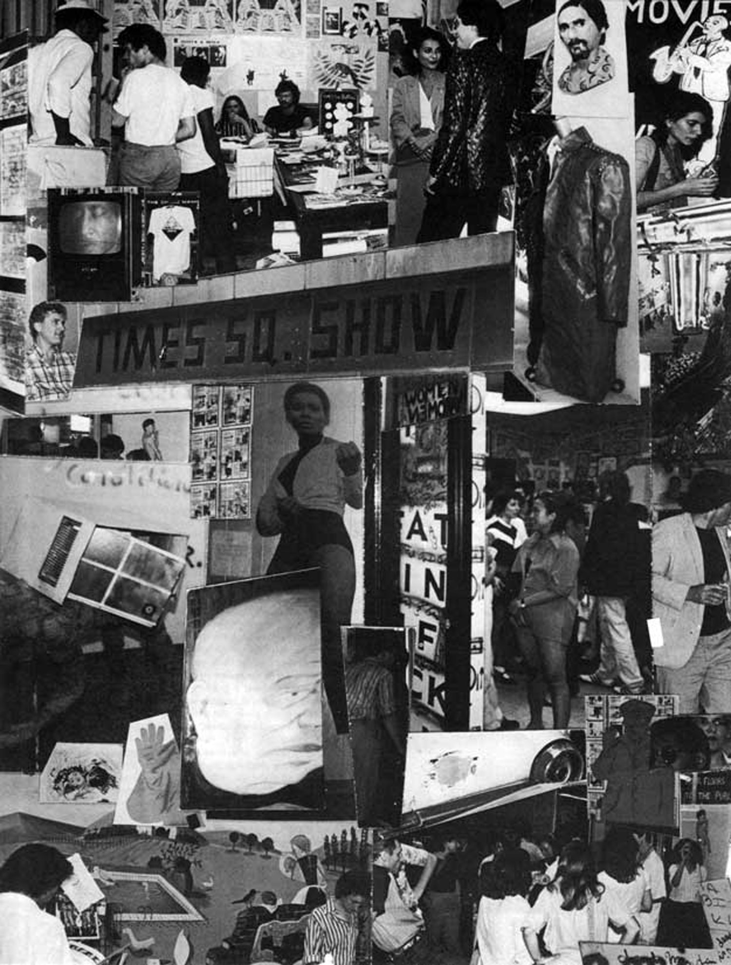 Views of the Time Square Show (organized by Colab), 1980. Photo collage by Terise Slotkin