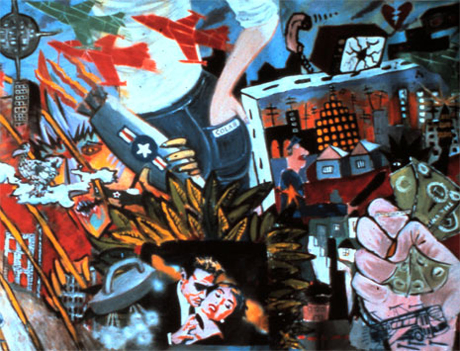 "Detail from ""Mural America"" (Colab mural #2), 1981"