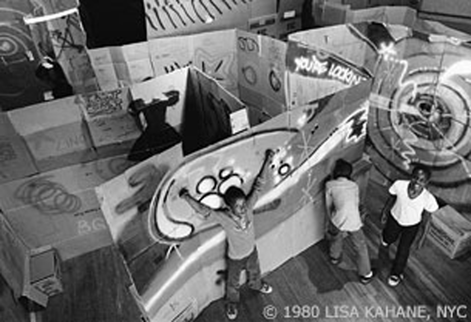 Graffiti opening in 1980. Photo by Lisa Kahane