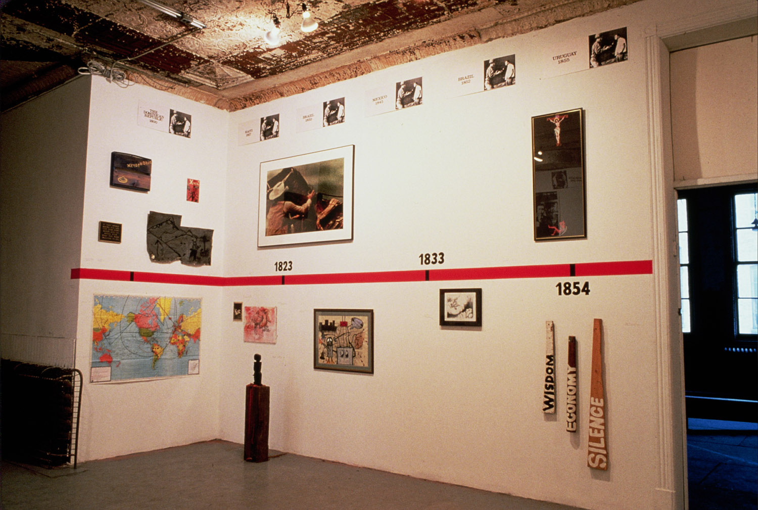 "Group Material, ""Timeline"" exhibition at P.S.1, 1984"