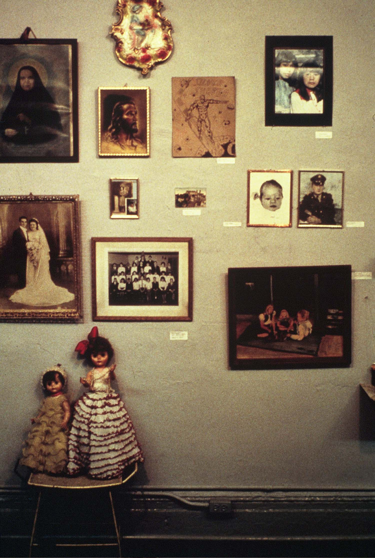 """Arroz con Mango"" installation view, a Group Material show of art and personal treasures gathered in the neighborhood"