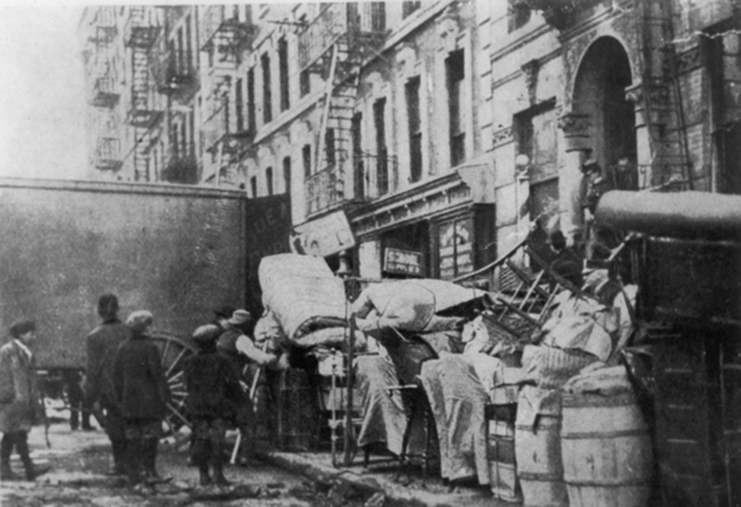 Eviction in East 11th Street, 1908