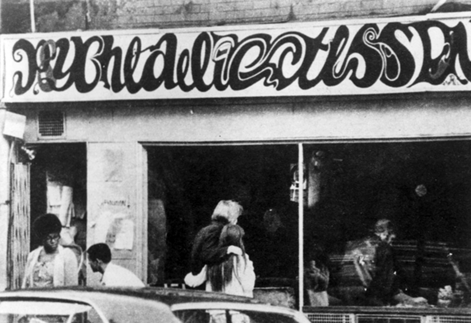 The Psychedelicatessen, a hippie hangout during the East Village boom of the 1960s