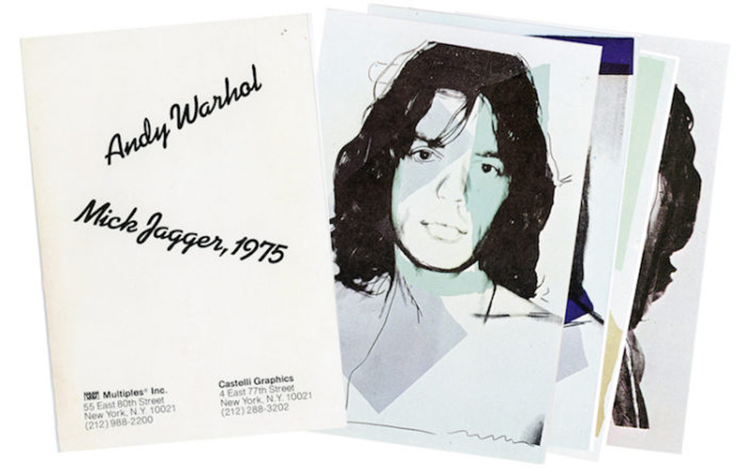 Castelli Graphics, Andy Warhol, Mick Jagger, 1975, Portfolio of 10 Postcards, 1975