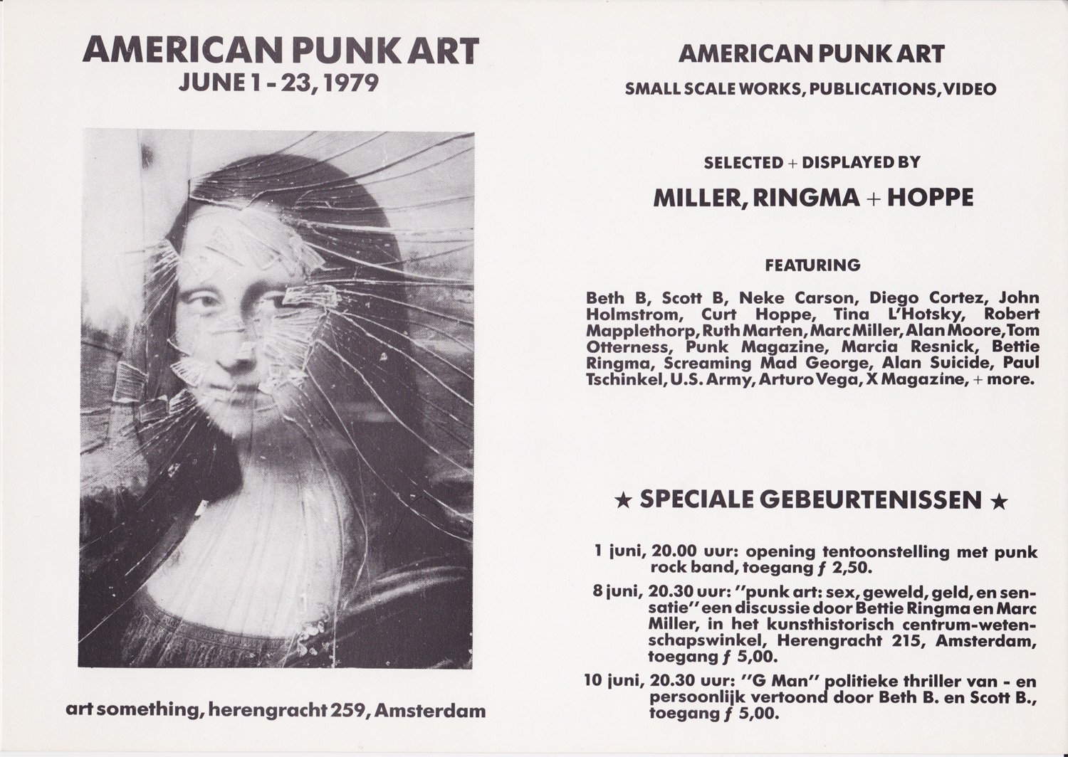American Punk Art invite, June 1-23, 1979