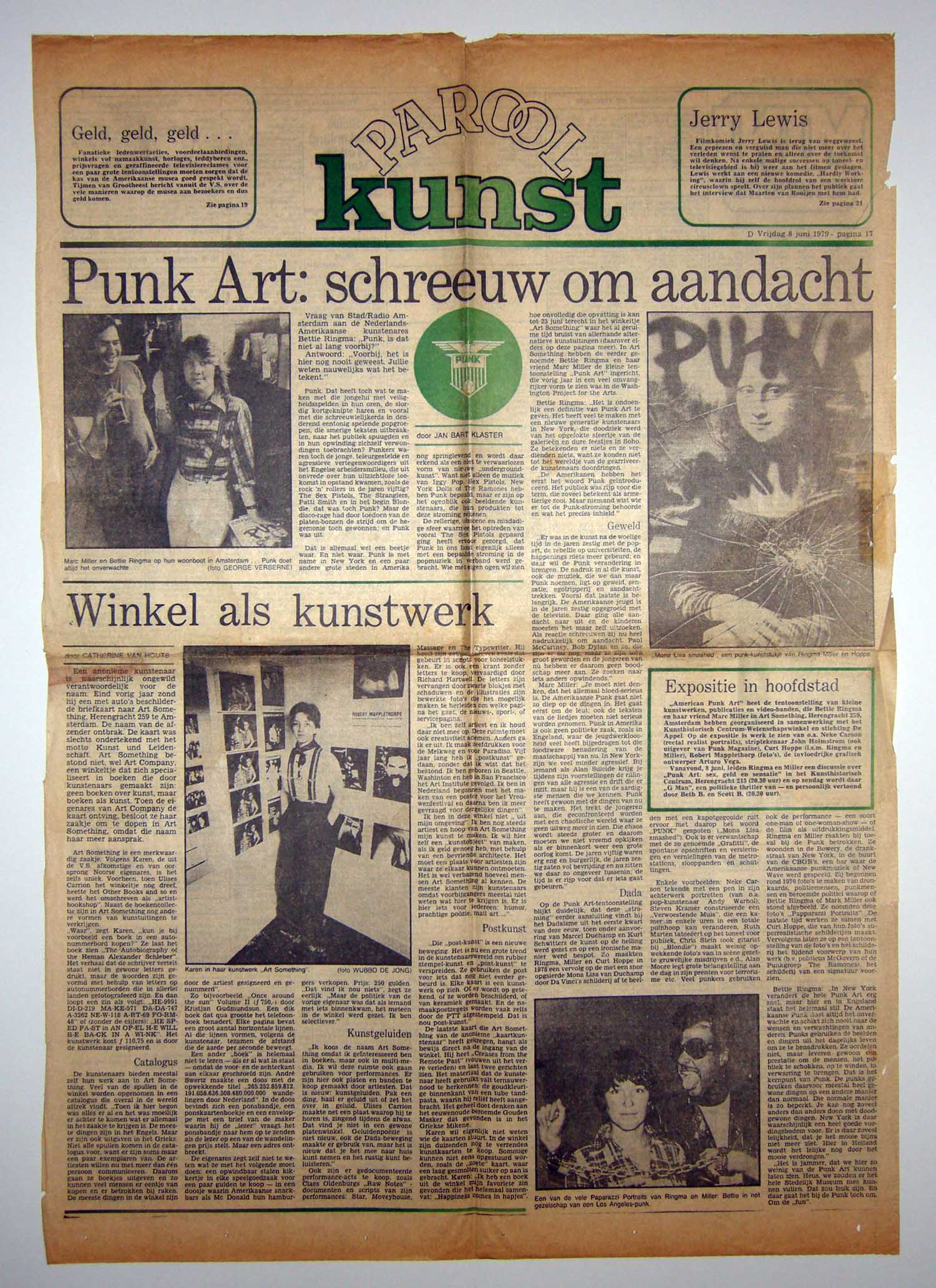 """Punk Art Screams for Attention,""  Parool , June 8, 1979"
