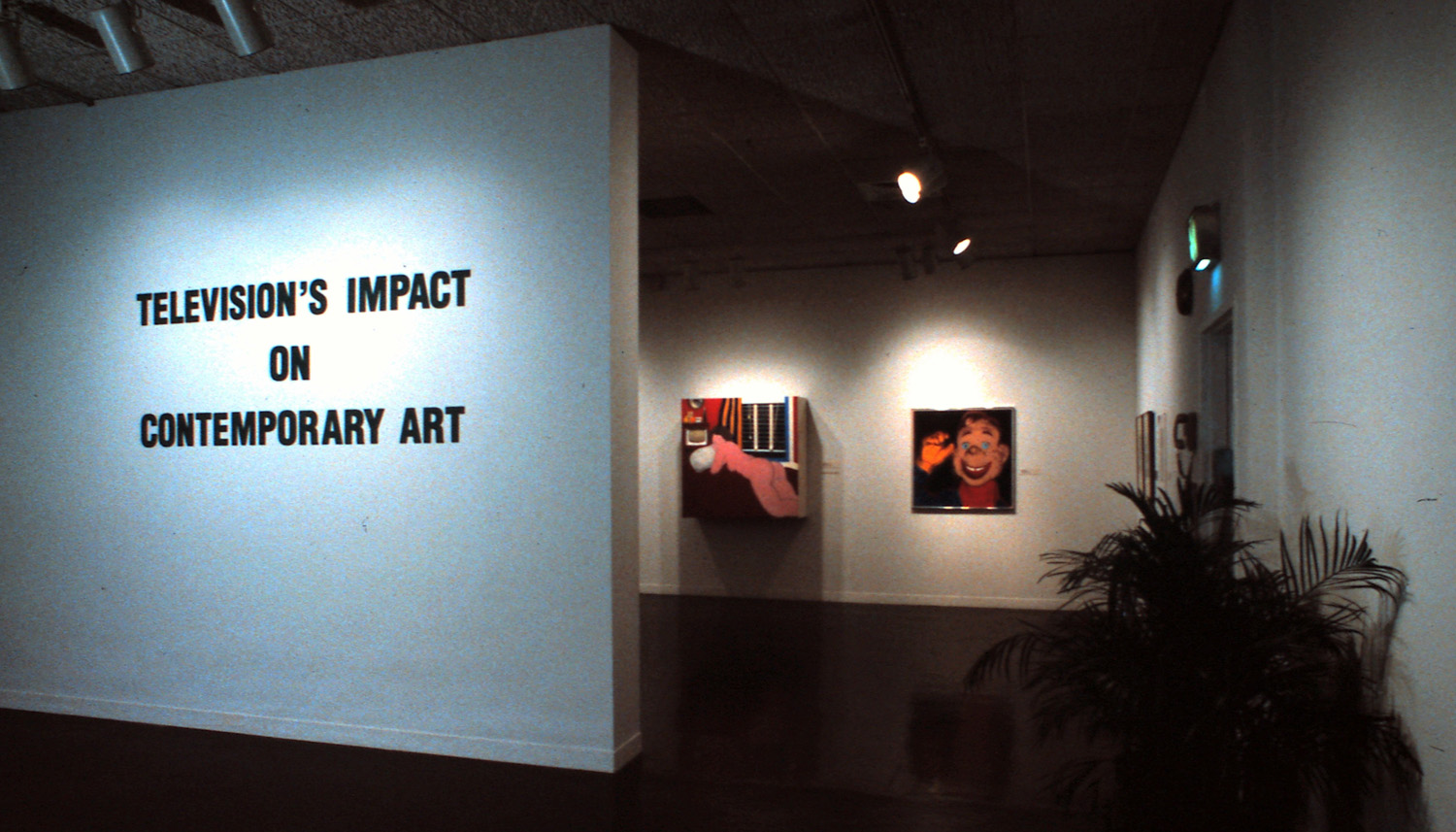 Installation view, with paintings by Tom Wesselman and Andy Warhol. All installation photographs by Phyllis Bilick.