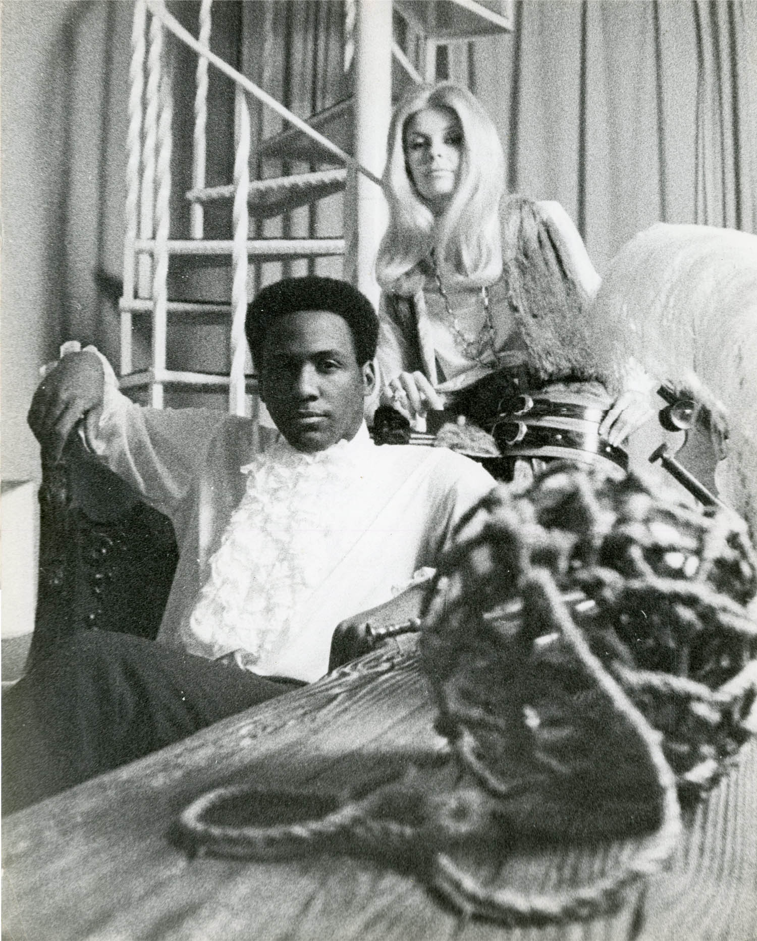 Richard Roundtree (the actor who played Shaft) and Carla, c. 1971.