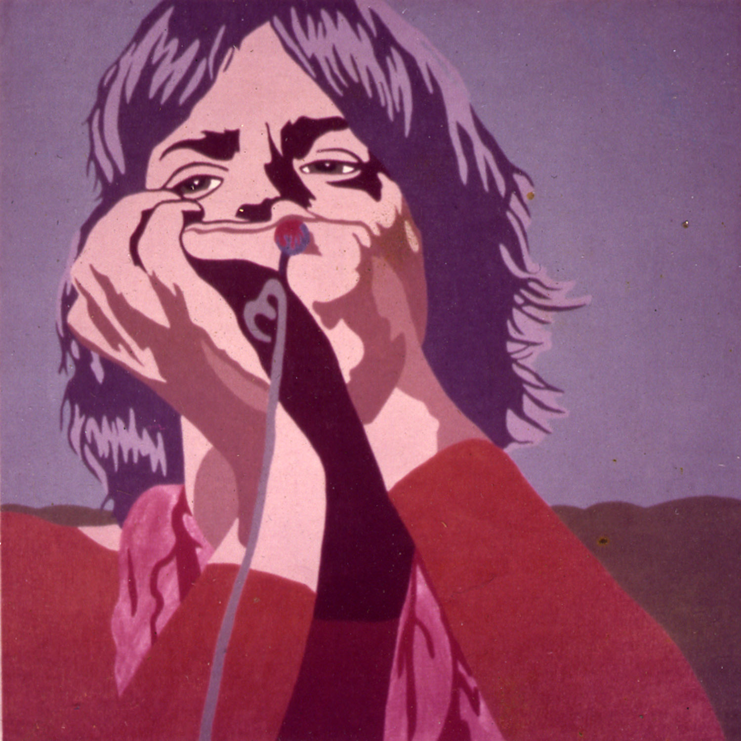 "Carla Dee Ellis, ""Mick Jagger,"" acrylic on canvas, 48"" x 48"", c. 1971"
