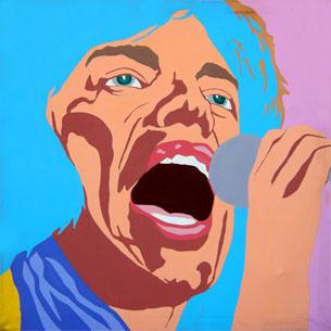 "Carla Dee Ellis, ""Mick Jagger"", acrylic on canvas, c. 1971"