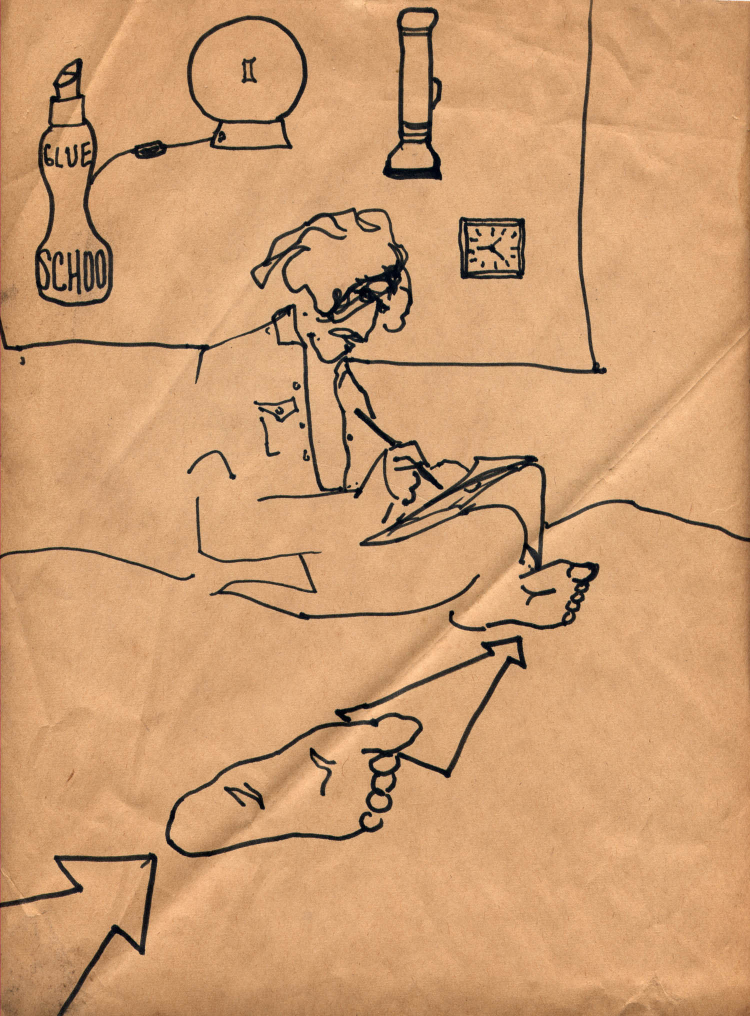 "Carla Dee Ellis, ""Marc Drawing"", 1969."