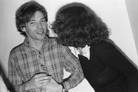 Julian Pretto and Susan Penzner at the opening of Self-Portraits, Fine Arts Building, 1975. Photo by Marcia Resnick
