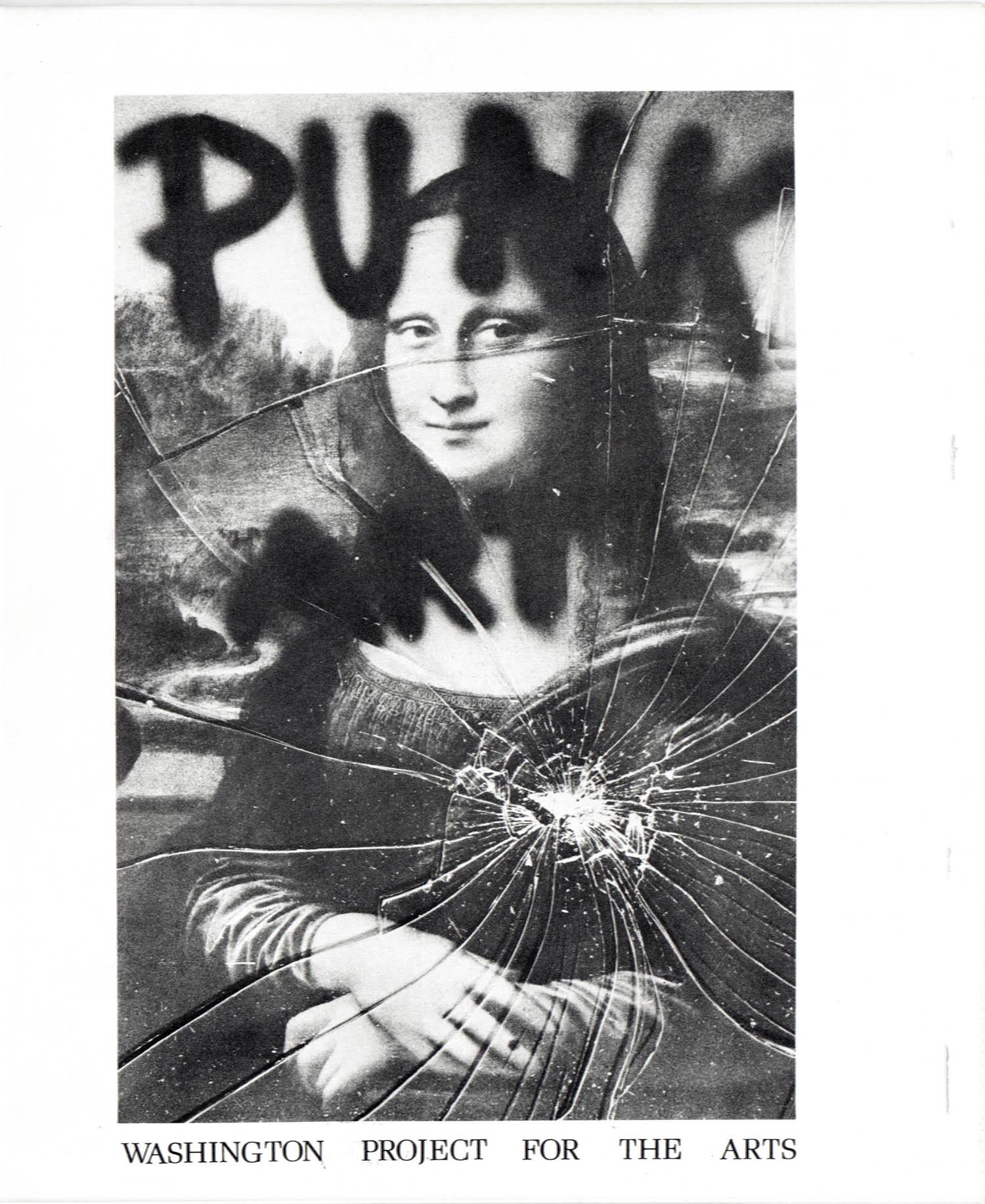 "Punk Art Catalogue front cover: Miller, Ringma & Hoppe, ""Smashed Mona,"" 1978"