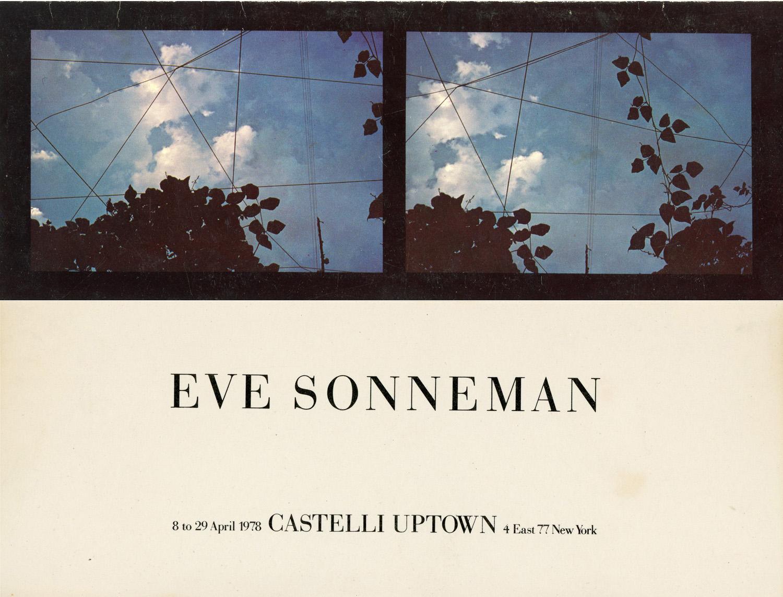Castelli Uptown, Eve Sonneman, Folded Card, 1978.