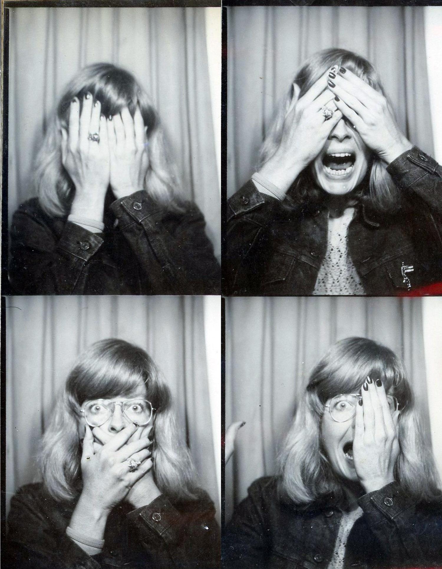 Carla Dee Ellis in Mott Street photobooth, c. 1970.