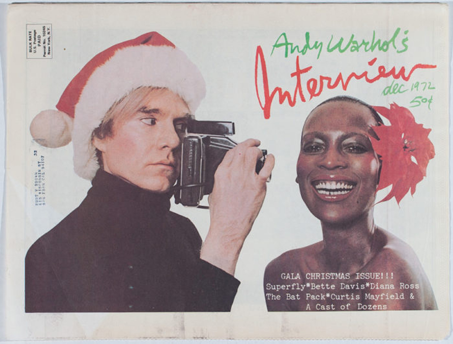 Interview Magazine, Gala Christmas Issue #28, December 1972