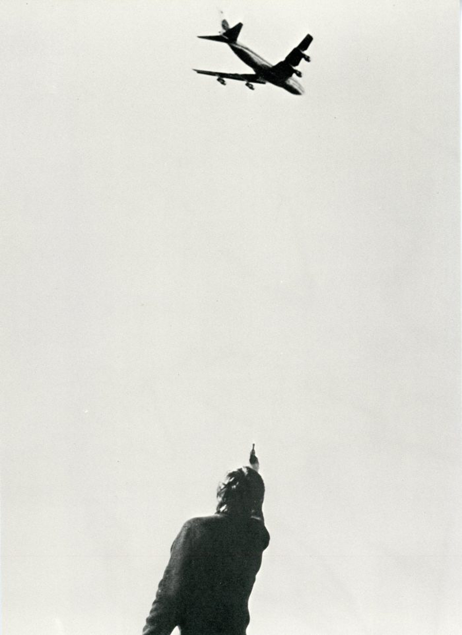 Chris Burden, 747, Card, 1973