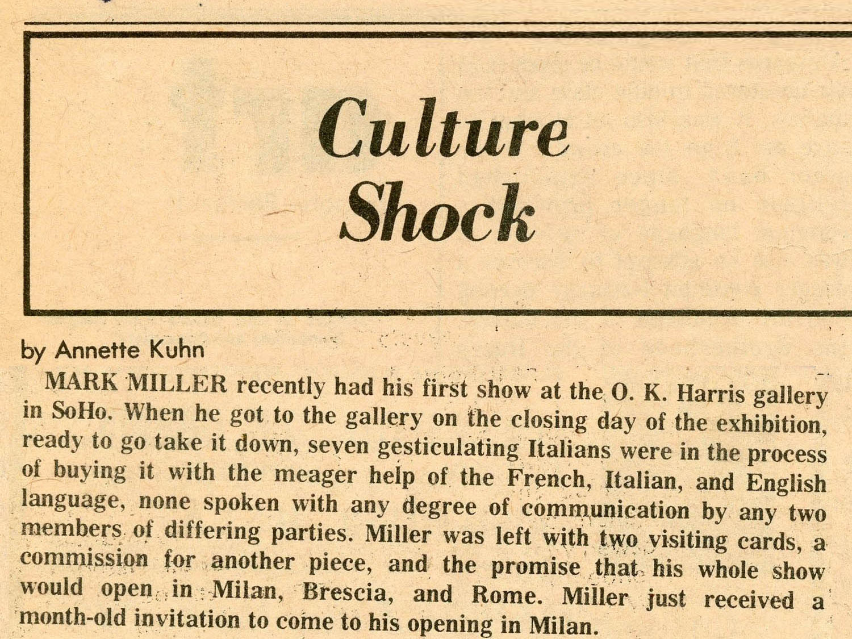"Annette Kuhn for Village Voice, ""Exhibition Sold"", 1974"