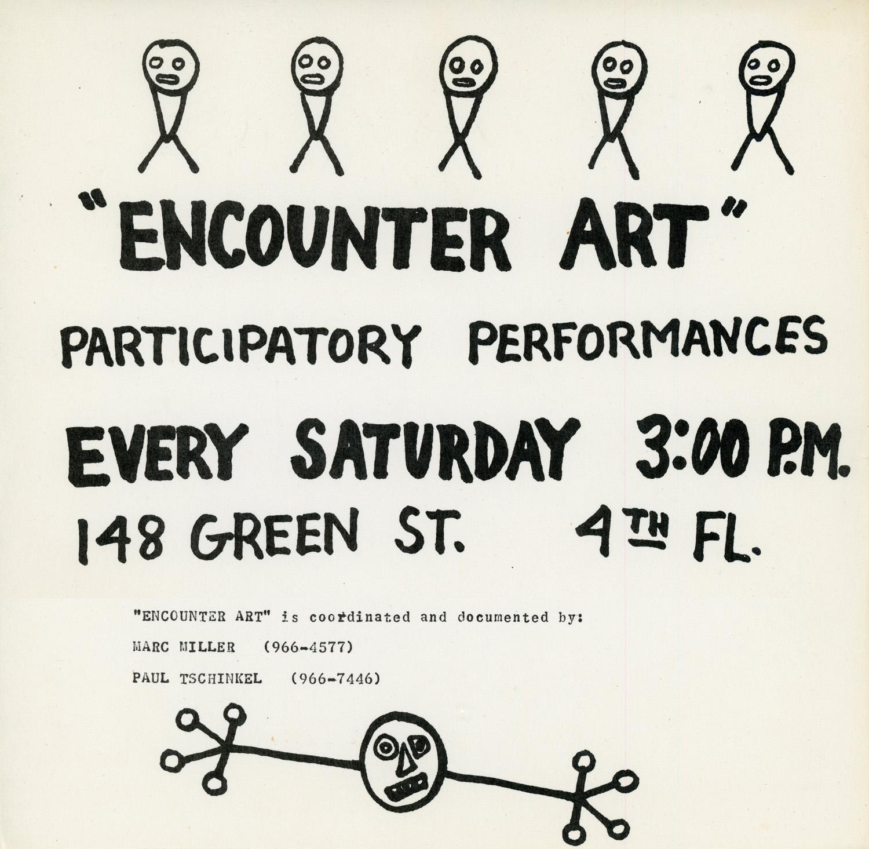 "Flyer for ""Encounter Art"", Marc H Miller, c. 1974"