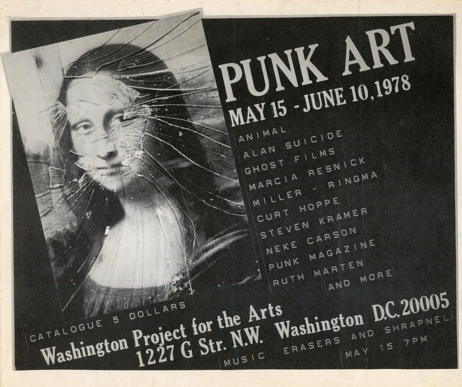 Poster for the Punk Art Show, Washington Project for the Arts
