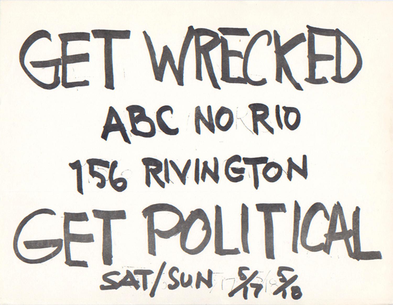 ABC No Rio Poster, 1980
