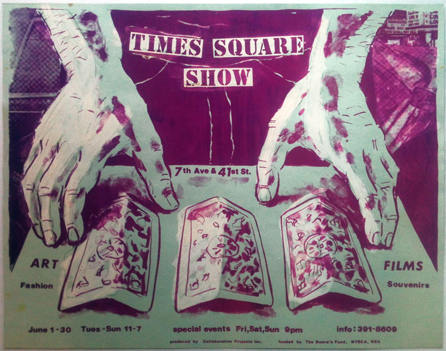 Times Square Show, Jane Dickson and Charlie Ahearn, Poster, 1980