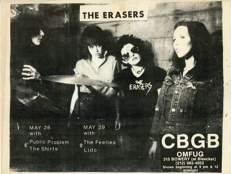 CBGB, The Erasers, Flyer, 1977