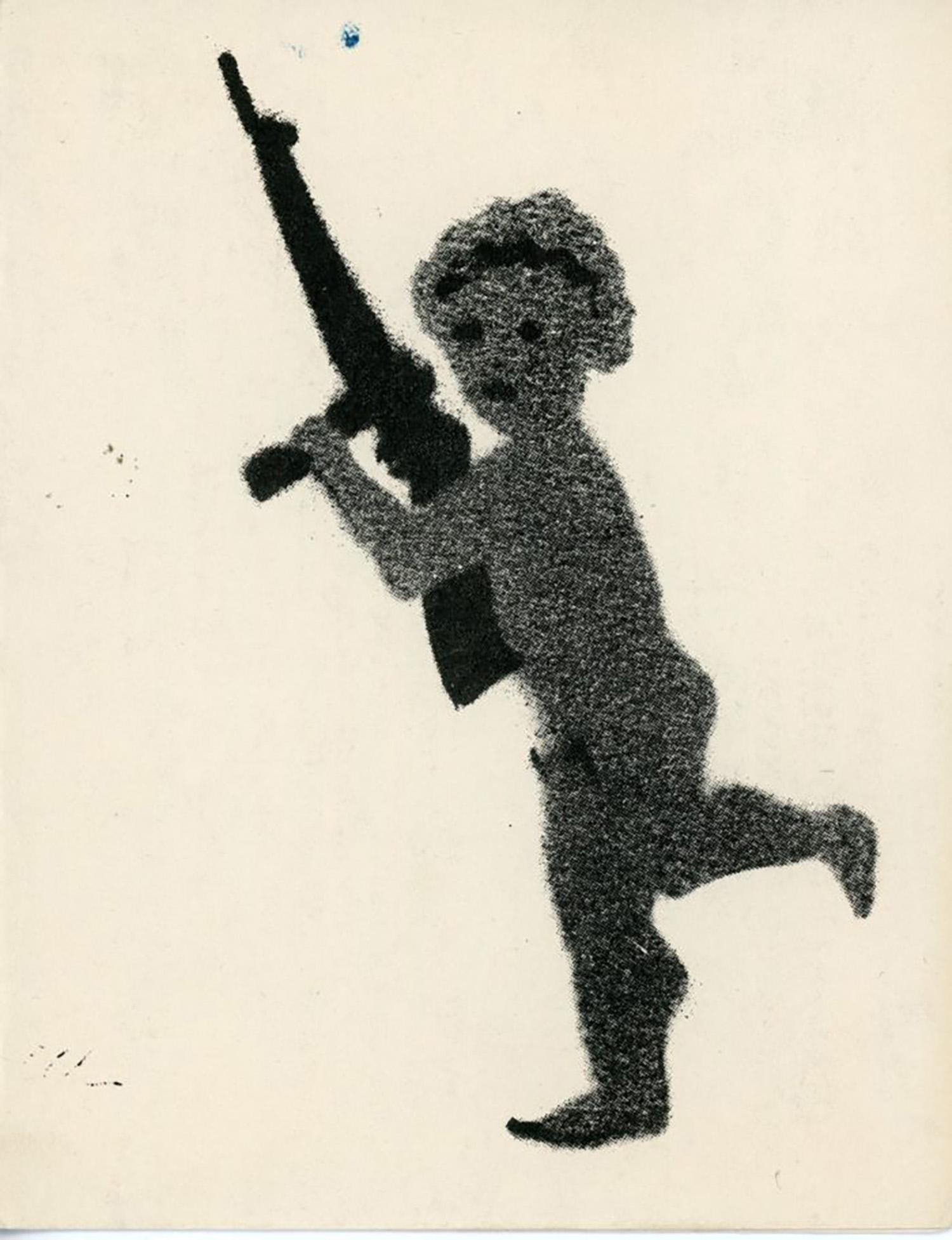 Ground Zero Gallery, Marguerite Van Cook, Stencil, Folded Card, 1985