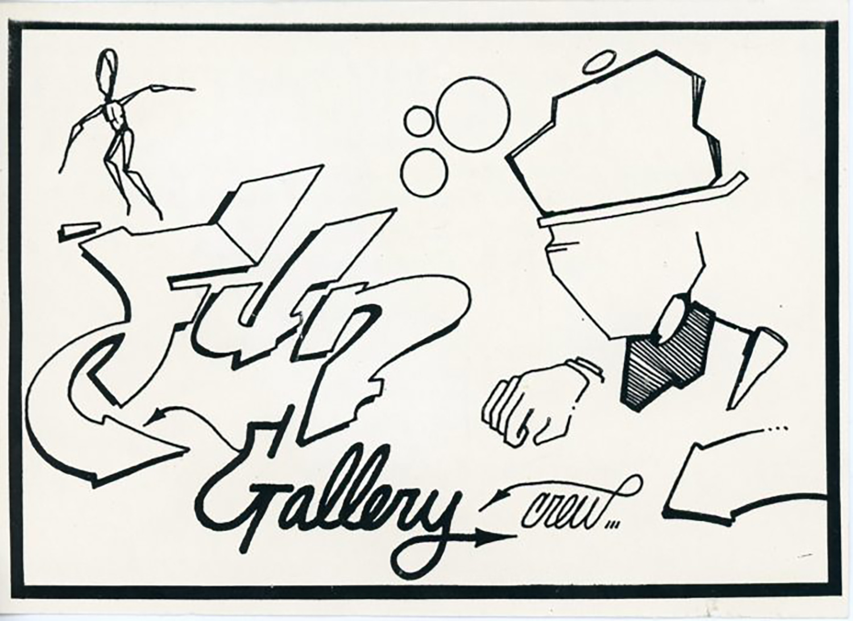 Danceteria, Dondi White, Fun Gallery Crew Party, Card