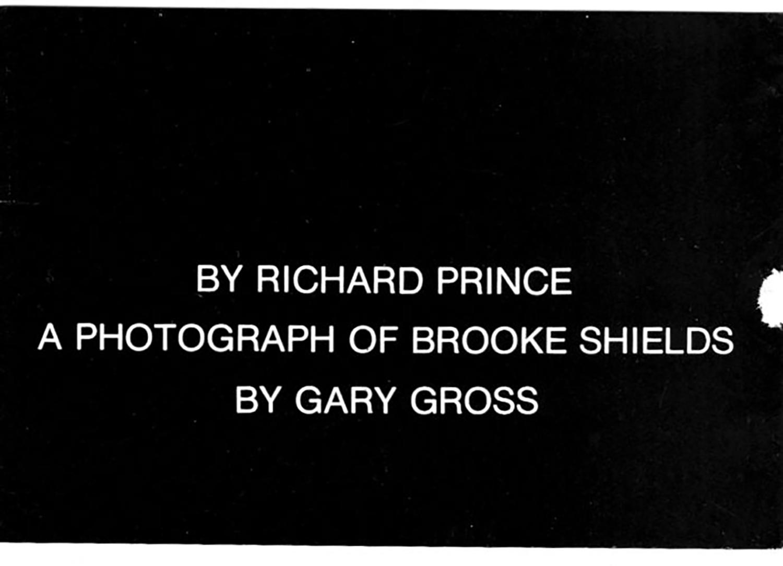 Spiritual America, Richard Prince, Spiritual America, Card, 1983