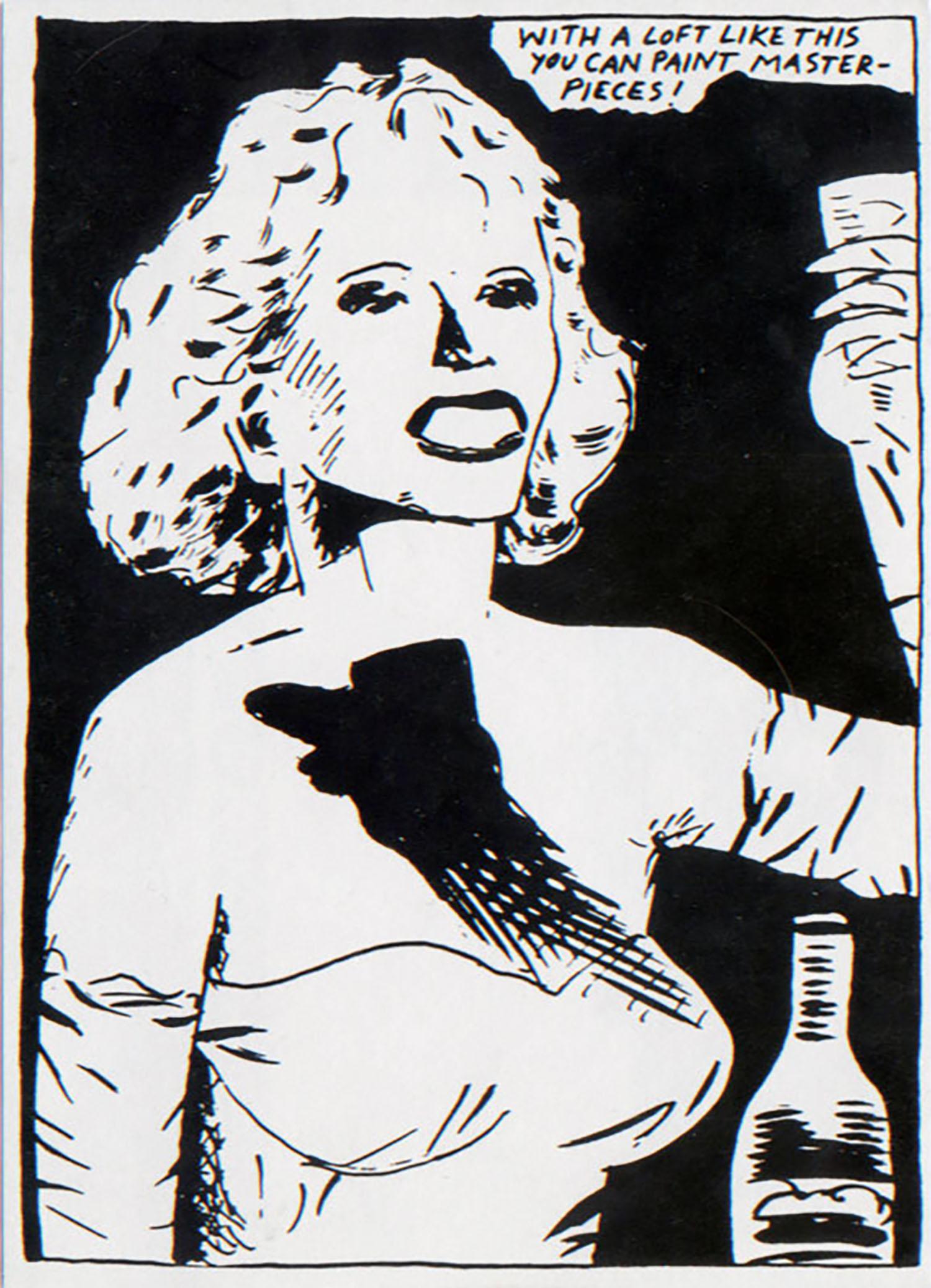 A & P, Raymond Pettibon, Gallery Closing Announcement Card, 1986