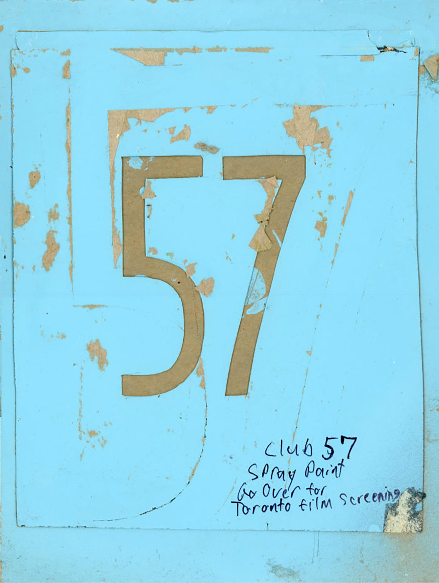 Club 57, M. Henry Jones, Spray Painted Stencil, c. 1980