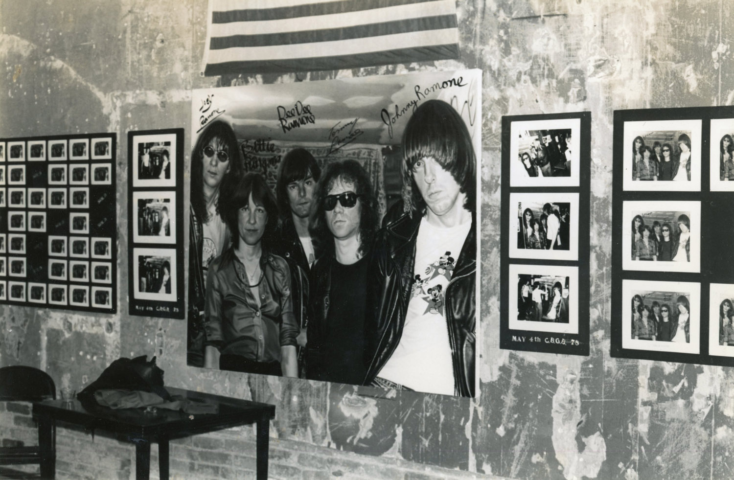 'Bettie and the Ramones' at the Punk Art Exhibition, Washington Project for the Arts, 1978