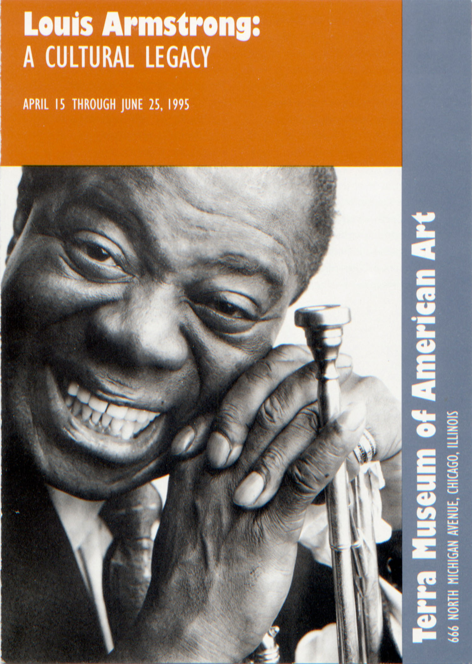 """Invitation to the opening of """"Louis Armstrong: A Cultural Legacy"""" at the Terra Museum of Art, Chicaog, Illinois"""