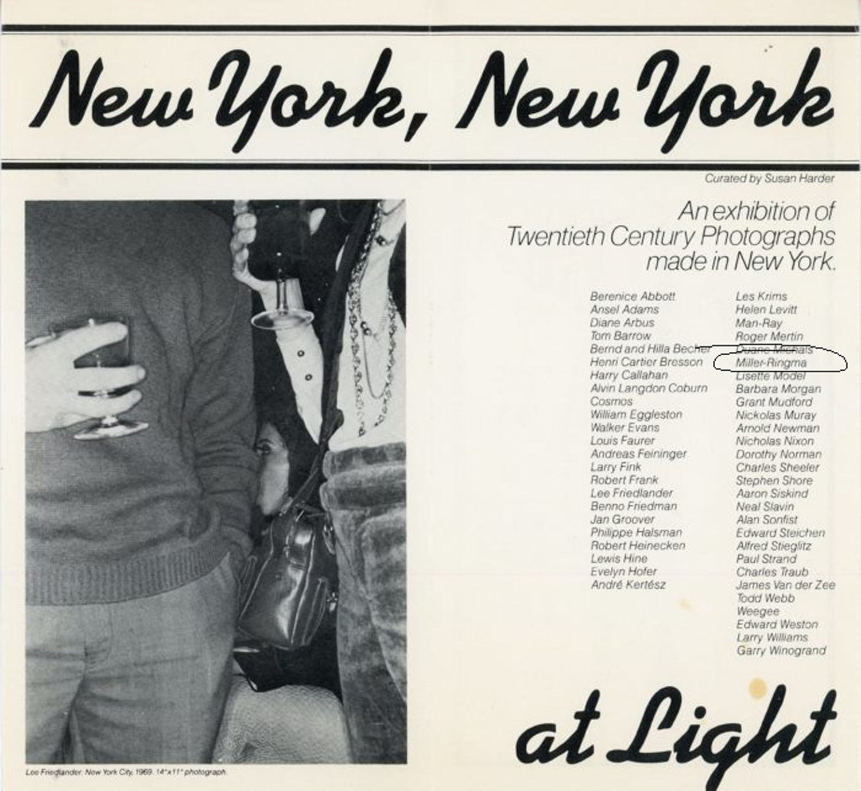 LIGHT Gallery, Marc H Miller, New York, New York, Card, 1978