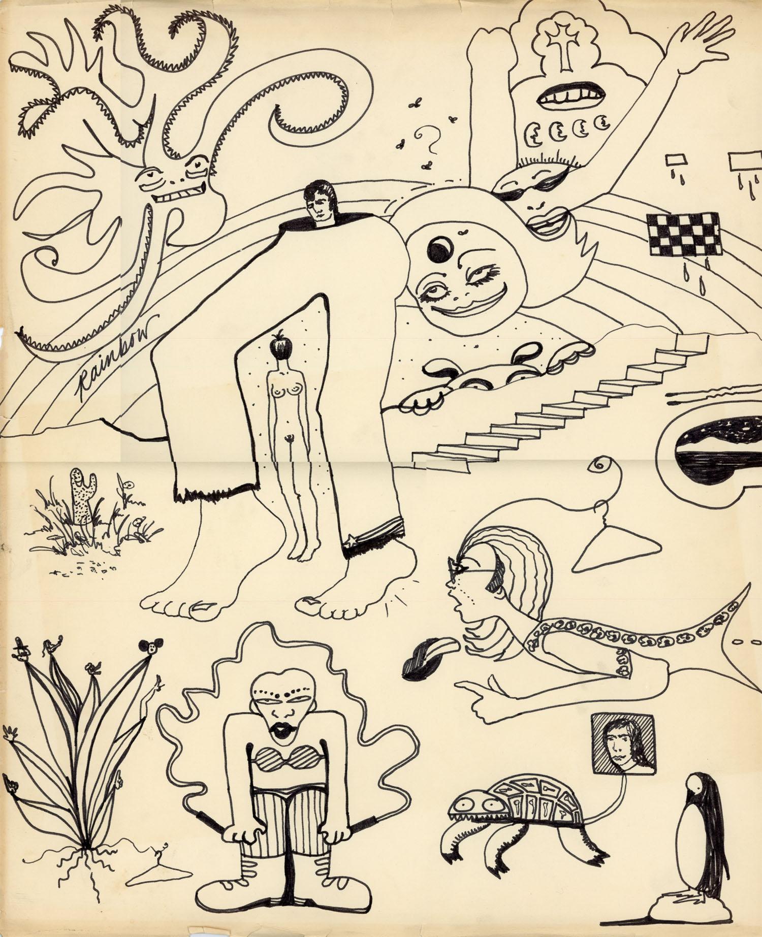 Carla Dee Ellis, Untitled, Ink on paper, c. 1970.