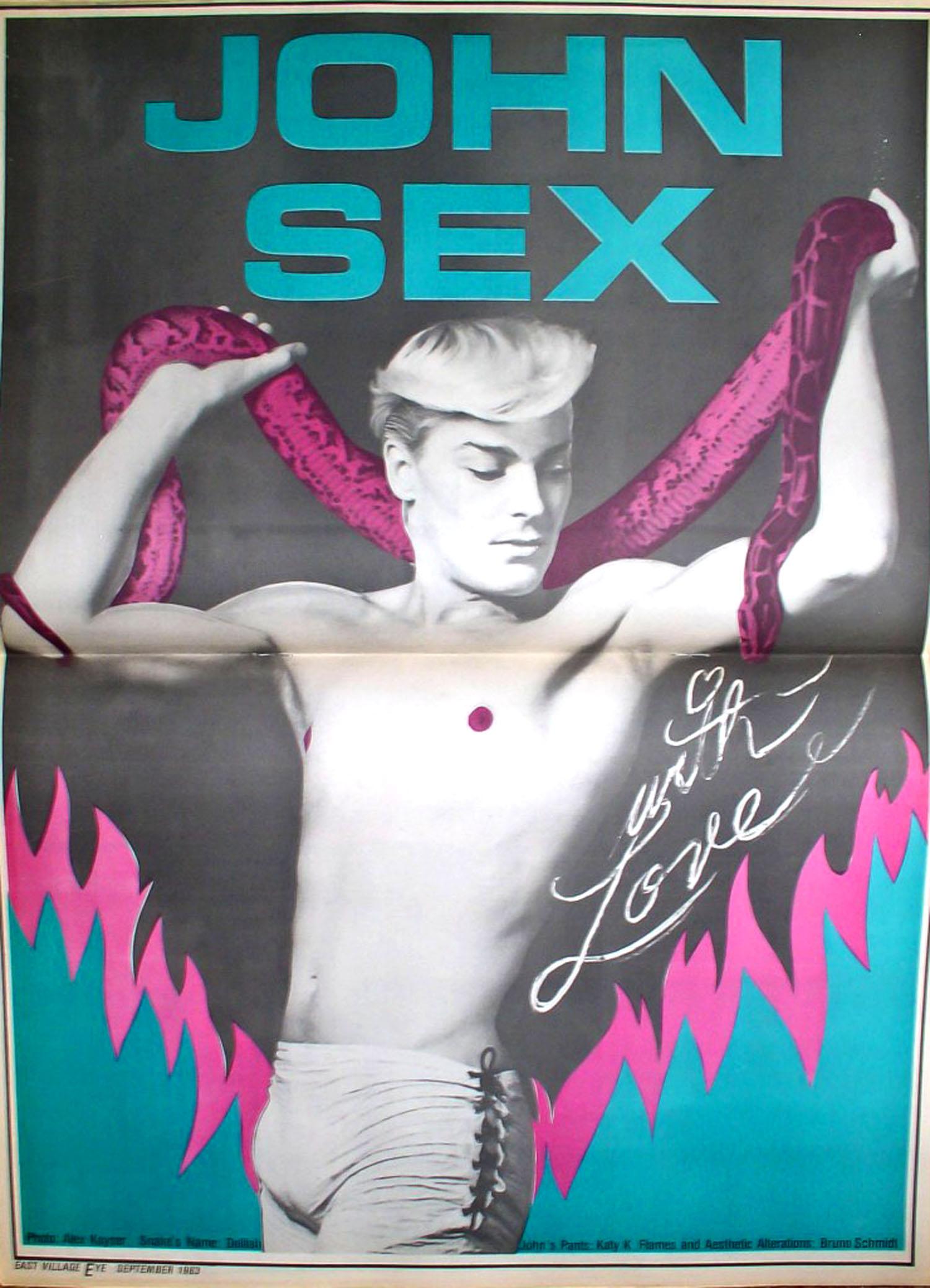 East Village Eye, Leonard Abrams, John Sex Centerfold, Vol. 5 No. 36