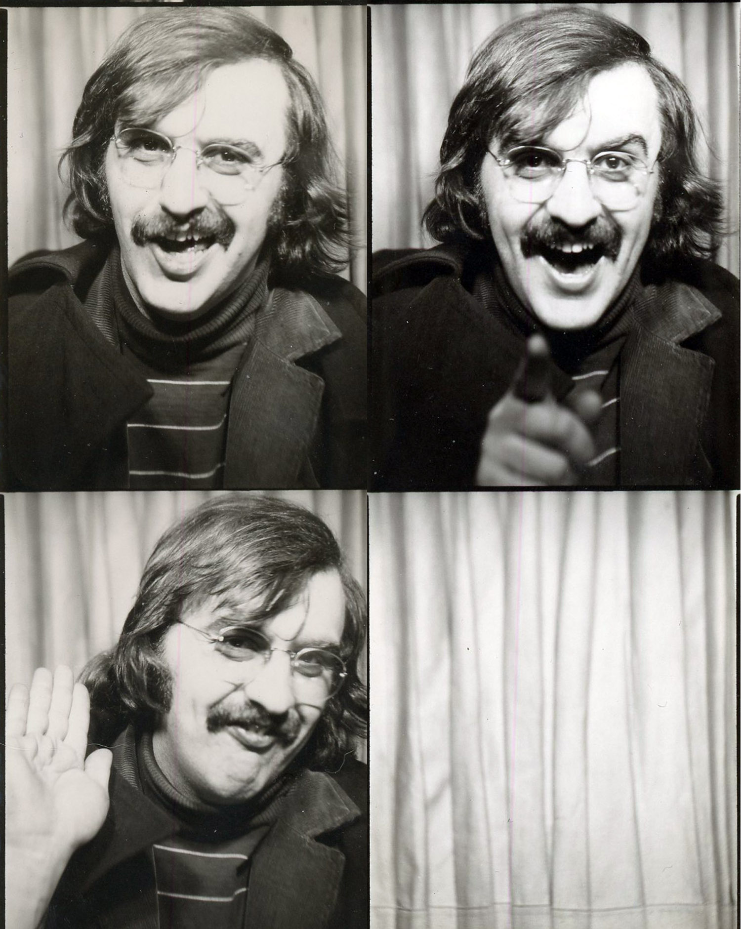 Mike in the photobooth on Mott Street, c. 1972
