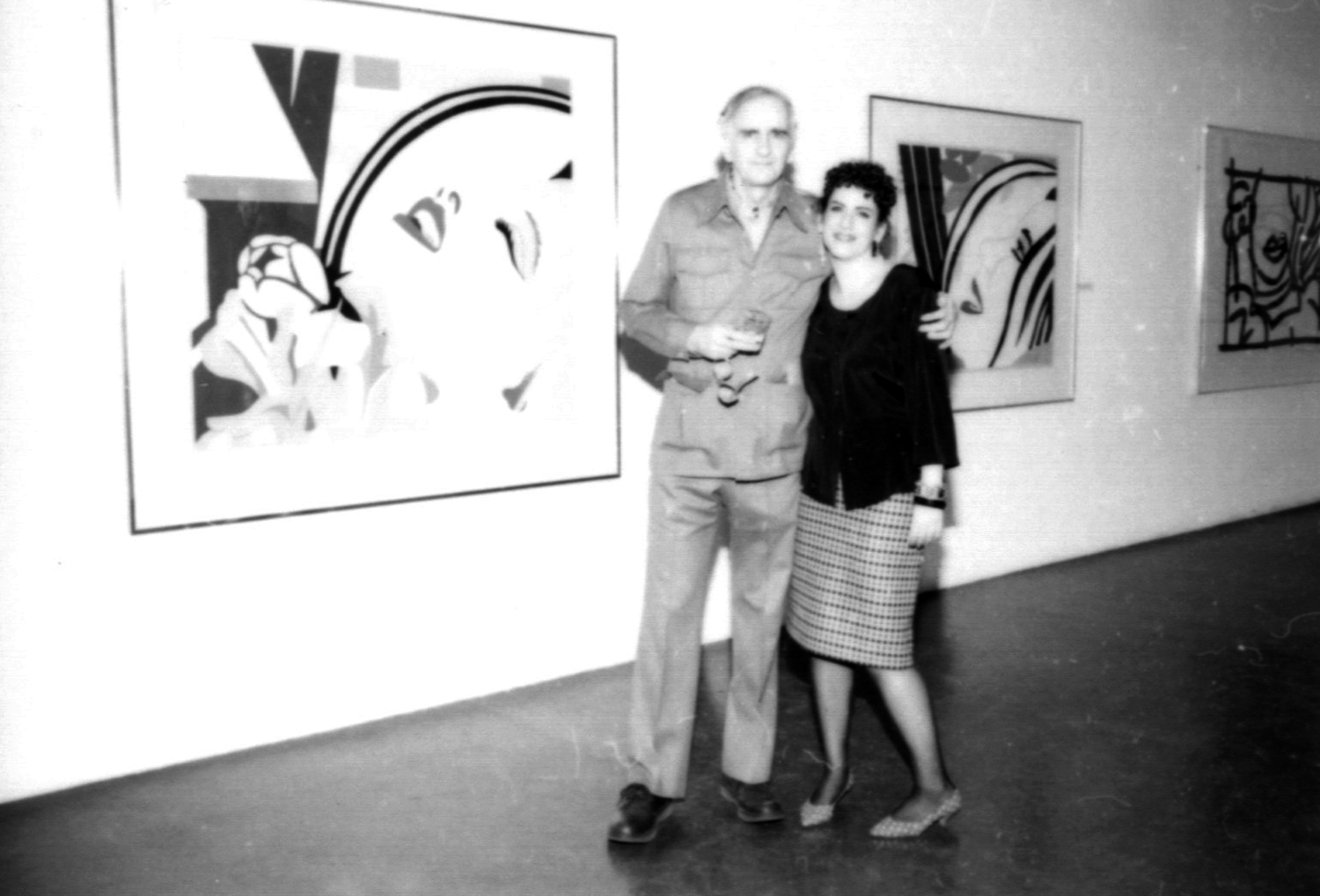 Tom Wesselmann and Ileen Sheppard at the opening of  Tom Wesselmann: A New Approach to Drawing , 1987